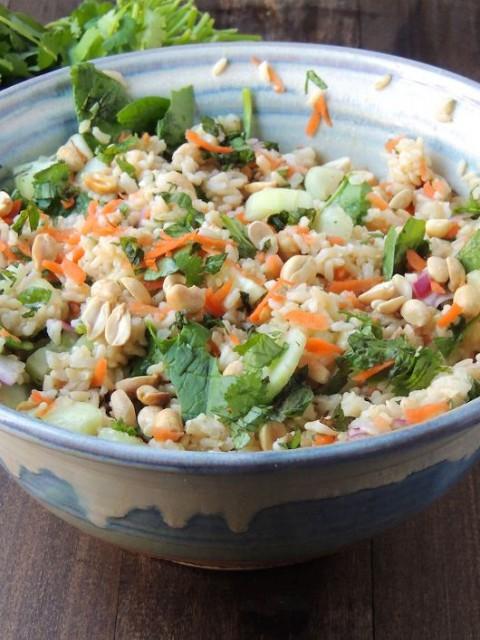 Ρυζοσαλάτα με φρέσκα λαχανικά
