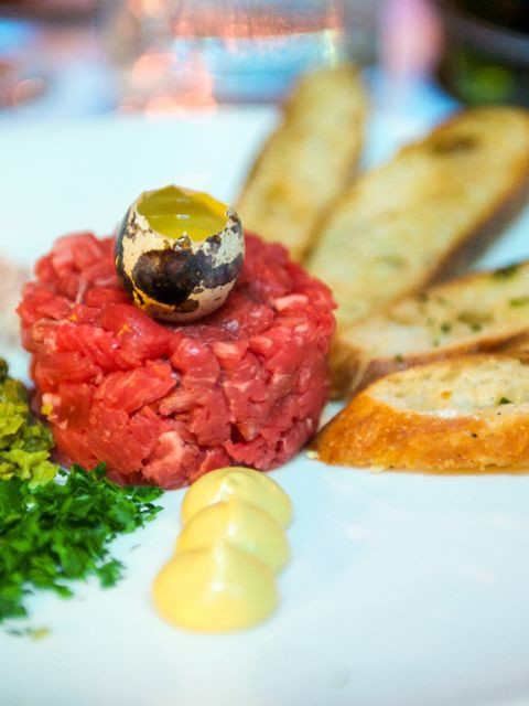 Κρόκοι με βοδινό κρέας ταρτάρ