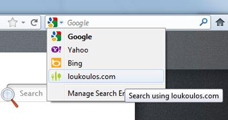 Ο Λούκουλος στη μπάρα αναζήτησης του δικού σου browser